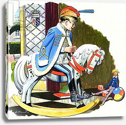 Постер Бласко Джизус (дет) Boy on Rocking Horse, illustration from 'Teddy Bear'