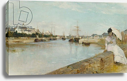 Постер Моризо Берт The Harbour at Lorient, 1869