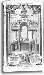 Постер Гравелот Юбер The Monument of Queen Elizabeth in Westminster Abbey, illustration from 'History of England', 1786