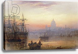 Постер Лейси Чарльз The Pool of London at Sundown, 1876