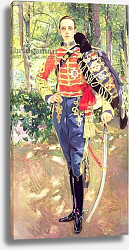 Постер Соролла Жакуин Portrait of King Alfonso XIII wearing the uniform of the Hussars, 1907