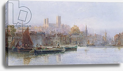 Постер Ллойд Уокер Lincoln Cathedral from the River