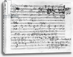 Постер Бетховен Людвиг Autograph score sheet for the Trio mi bemol opus 3
