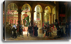 Постер Гране Франсуа Godfrey of Bouillon Depositing the Trophies of Askalon in the Holy Sepulchre Church, 1839
