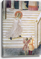 Постер Учелло Паоло The Virgin Mary ascending the staircase at the Presentation of Mary in the Temple, 1433-34