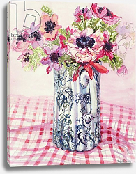 Постер Фивси Джоан (совр) Anemones in a Victorian Flowered Jug