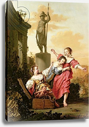 Постер Брай Саломон The Three Daughters of Cecrops discovering Erichthonius