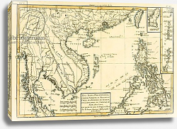 Постер Бонне Чарльз (карты) The Philippines, Formosa, South China, Cambodia, Siam, Laos, 1780