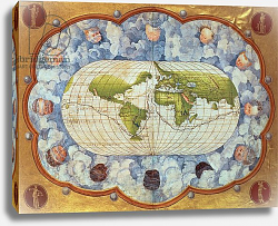 Постер Агнес Батиста (карты) Map tracing Magellan's world voyage, once owned by Charles V, 1545