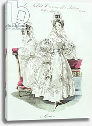 Постер Школа: Французская Wedding dress, from 'Le Follet Courrier des Salons Modes', 1832