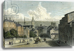 Постер Весталл Уильям (грав) Newcastle from Westgate Hill, engraved by Edward Finden, 1830