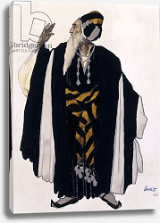 Постер Бакст Леон Costume design for a Jewish Elder for the drama 'Judith', 1922