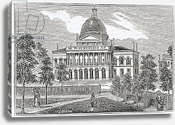 Постер Неизвестен Southern view of the State House in Boston on Beacon Street, 1839