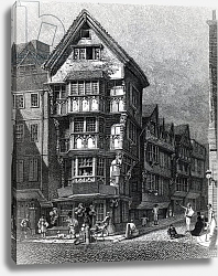 Постер Смит Джон (грав) Houses Lately Standing on the West Corner of Chancery Lane, Fleet Street, published in 1812