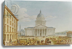 Постер Николле Виктор (грав) View of the Church of St. Genevieve, the Pantheon, 18th-19th century