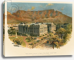 Постер Уилкинсон Чарльз Parliament house & Table mountain, Cape Town