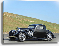 Постер Bentley 3 1 2 Litre Fixedhead Coupe by Kellner '1935