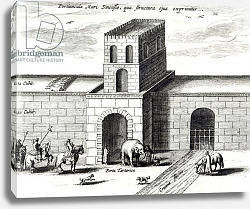 Постер Школа: Голландская 17в A Doorway in the Great Wall,from 'China illustrated' by Athanasius Kircher 1667