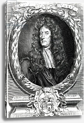 Постер Кнеллер Годфри, Сэр Sir Roger L'Estrange, engraved by Robert White, 1684