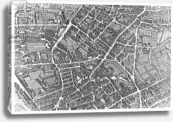 Постер Бретез Луи (карты) Plan of Paris, known as the 'Plan de Turgot', pl.7 engraved by Claude Lucas, 1734-39