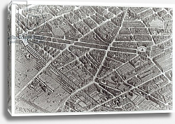 Постер Бретез Луи (карты) Plan of Paris, known as the 'Plan de Turgot', engraved by Claude Lucas, 1734-39 5
