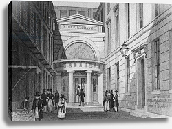 Постер Шепард Томас (последователи) Stock Exchange, London, from 'Metropolitan Improvements; or London in the nineteenth century', 1828