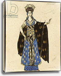 Постер Бакст Леон A costume design for 'Salome': Herodiade