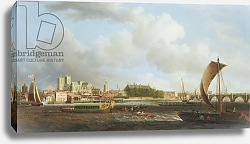 Постер Скотт Самуэль Westminster from Lambeth, with the ceremonial barge of the Ironmongers' Company, c.1745