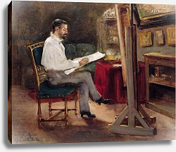 Постер Кайботт Гюстав (Gustave Caillebotte) The Artist Morot in his Studio, c.1874