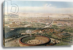 Постер Гуздон Альфред Aerial View of Madrid from the Plaza de Toros, 1854