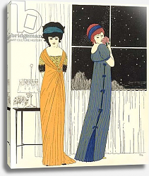 Постер Ирибе Поль Two empire line evening dresses, from 'Les Robes de Paul Poiret' 1908