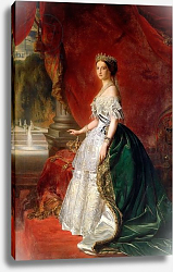 Постер Школа: Австрийская 19в. Portrait of Empress Eugenie of France