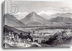 Постер Рамэйдж Дж. Cabul from the Bala Hissar, engraved by J. Stephenson, c.1870