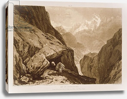 Постер Тернер Вильям (последователи) F.9.I Mt. St. Gothard, from the 'Liber Studiorum', engraved by Charles Turner, 1808