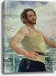 Постер Репин Илья Portrait of Author Leonid Andreev, 1912