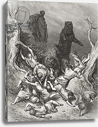 Постер Доре Гюстав The Children Destroyed by Bears, illustration from Dore's 'The Holy Bible', 1866