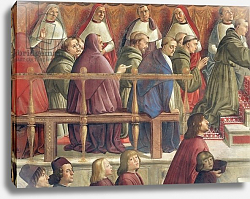 Постер Гирландайо Доменико The Approval of the Order by Pope Honorius III, scene from the life of St. Francis of Assisi