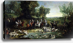 Постер Одри Жан-Батист Louis XV Stag Hunting in the Forest at Saint-Germain, 1730