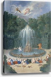 Постер Котель Джин Младший The Groves of Versailles. View of the Star or Mountain of Water with Alph persuing Arethusa