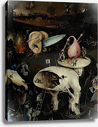Постер Босх Иероним The Garden of Earthly Delights: Hell, right wing of triptych, c.1500 3