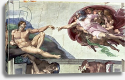 Постер Микеланджело (Michelangelo Buonarroti) Sistine Chapel Ceiling: The Creation of Adam, 1511-12 2