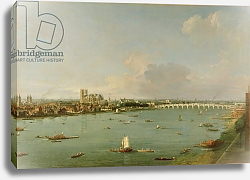 Постер Каналетто (Giovanni Antonio Canal) View of the Thames from South of the River