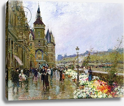 Постер Стейн Джордж Flower Sellers by the Seine