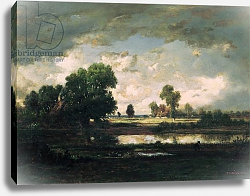 Постер Руссо Пьер The Pool with a Stormy Sky, c.1865-7