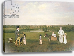 Постер Фернли Джон William Hetton Cooke with his Wife and Children at Worleston Rookery, Chester