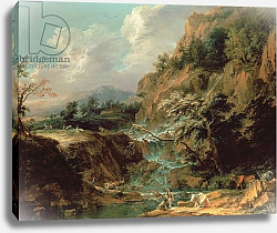 Постер Бейч Иохим Landscape with waterfall