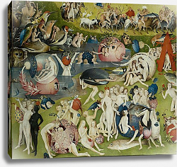 Постер Босх Иероним The Garden of Earthly Delights: Allegory of Luxury, central panel of triptych, c.1500 5