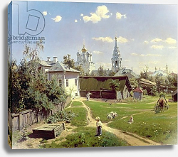 Постер Поленов Василий A Small Yard in Moscow, 1878
