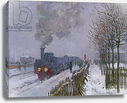Постер Моне Клод (Claude Monet) Train in the Snow or The Locomotive, 1875