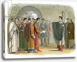 Постер Дойл Джеймс Becket forbids the earl of Leicester to pass sentence on him